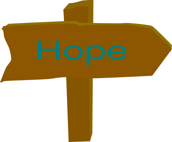 hope direction sign clip art at clker com vector clip art online rh clker com hope clip art images hope clipart free