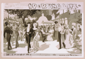The Mammoth Spectacular Production, Sporting Life Written By Cecil Raleigh & Seymour Hicks. Clip Art