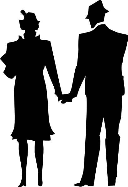Husband and wife silhouette