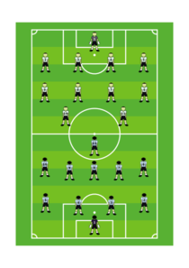 Soccer Field With Players Clip Art