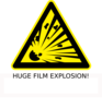 Huge Film Explosion! Clip Art