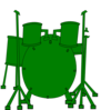 Green Drums Clip Art