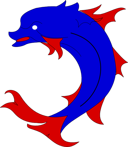 Dauphin Dolphin Clip Art at Clker.com - vector clip art online ...