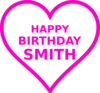 Smith Bday18 Clip Art