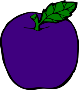 Purple Apple Clip Art