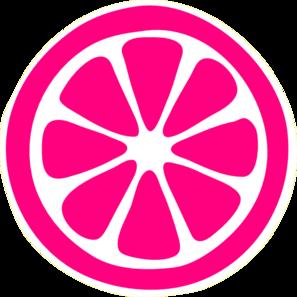 Lemon Slice Pink Clip Art