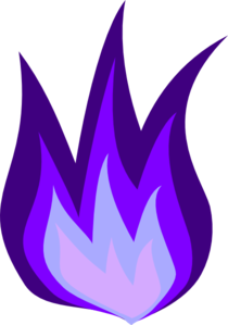 Purple Fire Clip Art