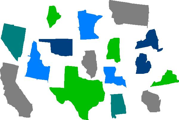 seperate states individual clip art at clkercom vector
