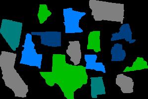 Seperate States Individual Clip Art at Clker.com - vector ...