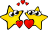 Stars In Love Clip Art