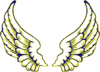 Blue And Yellow Wings Clip Art