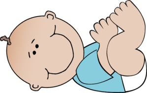 Baby Boy Lying Down  Clip Art