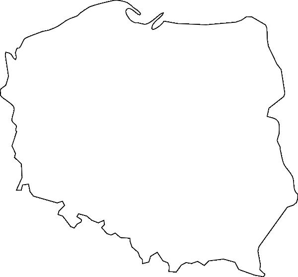 Black Line Master Polish Map Clip Art At Clkercom Vector Clip Art
