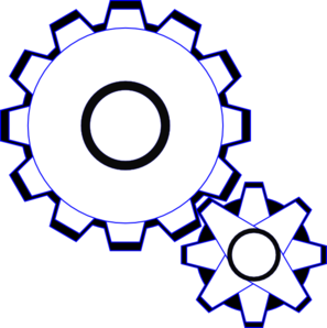 Simple Gears Clip Art at Clker.com - vector clip art online ...