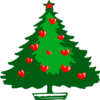 Christmas Hearts Clip Art