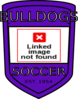 Bulldog Soccer Shield Clip Art