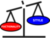 Style Vs Functionality Scale Clip Art