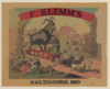 F. Klemm S Bock - Baltimore, Md. No. 1 Clip Art