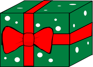 Gift With Ribbon And Bow Clip Art