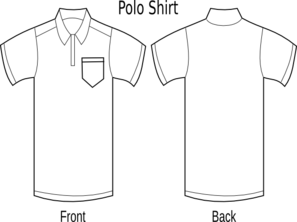 Polo Shirt Front And Back Clip Art