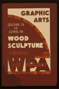 Graphic Arts - Wood Sculpture, George Walter Vincent Smith Art Gallery, Springfield, Mass. Clip Art