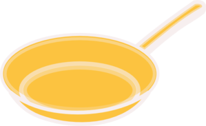 Yellow Frying Pan Clip Art