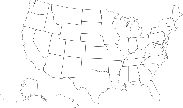 Blank Us Map Clip Art At Clkercom Vector Clip Art Online - Blank us map png
