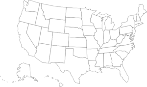 Blank Us Map Clip Art