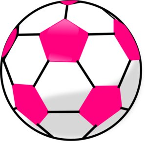 Soccer Ball With Hot Pink Hexagons Clip Art