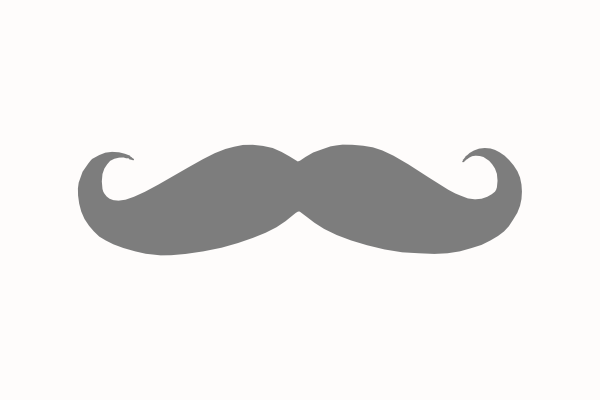 Gray Mustache Clip Art at Clker.com - vector clip art online, royalty ...