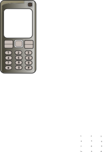 Mobile Phone With Blank Screen Clip Art