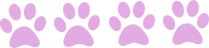 Pink Paws Clip Art