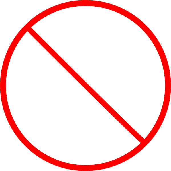 no symbol skinny clip art at clkercom vector clip art