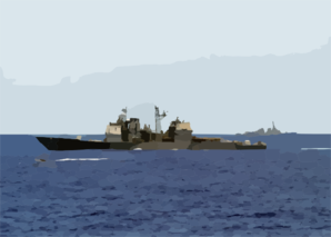 The Guided Missile Cruiser Uss Antietam (cg 54) And The Guided Missile Destroyer Uss Lassen (ddg 82) Conduct A Small Boat Exercise With The Guided Missile Frigate Uss Ingraham (ffg 61) Clip Art
