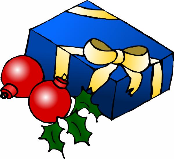Christmas present clip art at clker vector