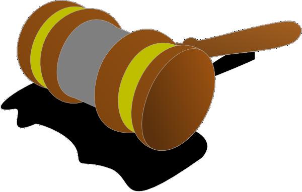 Justice Gavel Color 2 Clip Art at Clker.com - vector clip ...