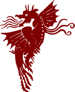 Crimson Dragon Winged Clip Art