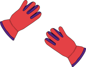 2 Gloves Clip Art