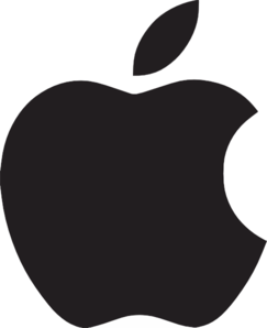 Apple Logo Clip Art at Clker.com - vector clip art online, royalty ...