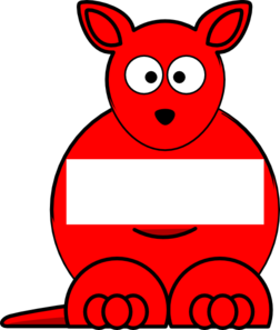 Red Sightword Kangaroo Clip Art