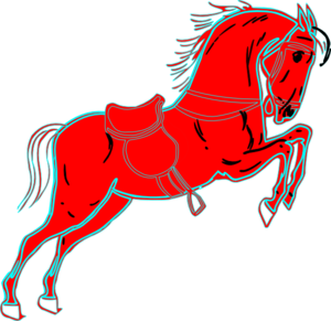 Red Horse White Clip Art