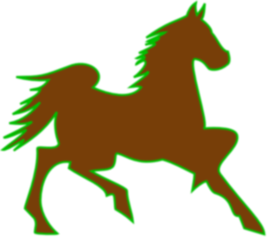 Fire Horse Green Clip Art