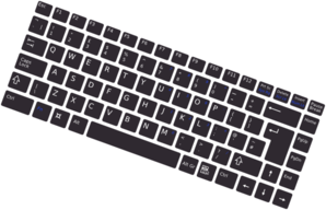 Rotated Simple Keyboard Clip Art