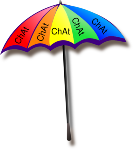 Chat - Umbrella Clip Art