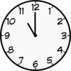 Eleven O Clock clip art