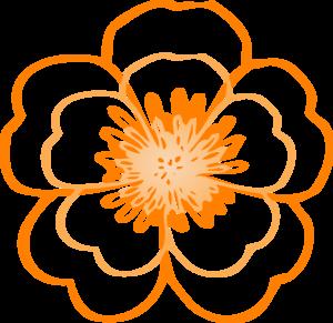 Layered Orange Flower Clip Art At Clker