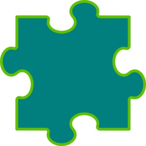 Blue-green Puzzle Piece Clip Art