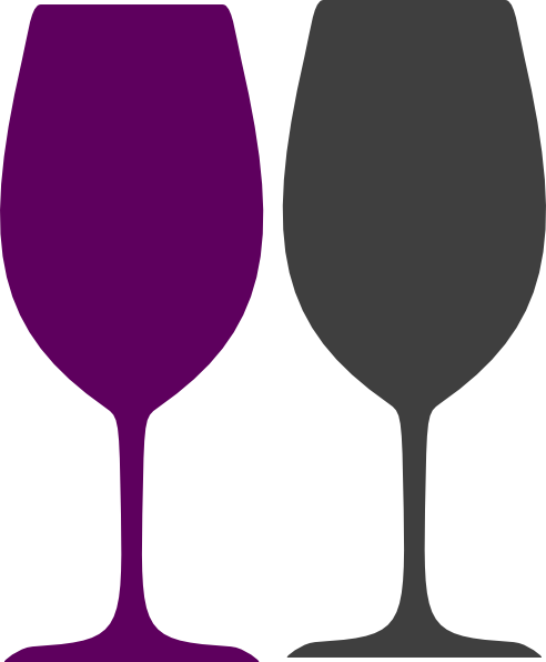 Purple And Gray Wine Glasses Clip Art at Clker.com - vector clip art ...