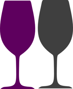 wine glass silhouette clip art source http clker com clipart purple ...