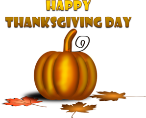 Happy Thanksgiving Day With Pumpkin Clip Art